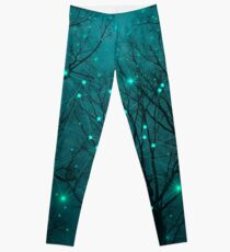 Silently, One by One, the Stars Blossomed (Geometric Stars Remix) Leggings
