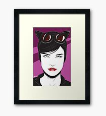 Cat Woman - Nagel Style Framed Print