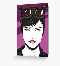 Cat Woman - Nagel Style Greeting Card
