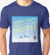 Hoth travel poster Unisex T-Shirt