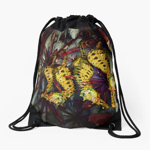 Ocean Invasion #4: Crystal Cave of the Landhorse Drawstring Bag