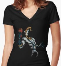 Squiggly Jim Women's Fitted V-Neck T-Shirt