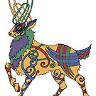 Celtic Stag by redqueenself