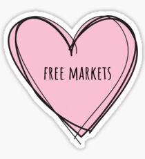Free Markets Heart Sticker