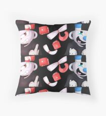 Cuphead and Mugman Throw Pillow