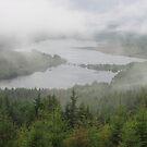 Loch Garry in fog by zahnartz