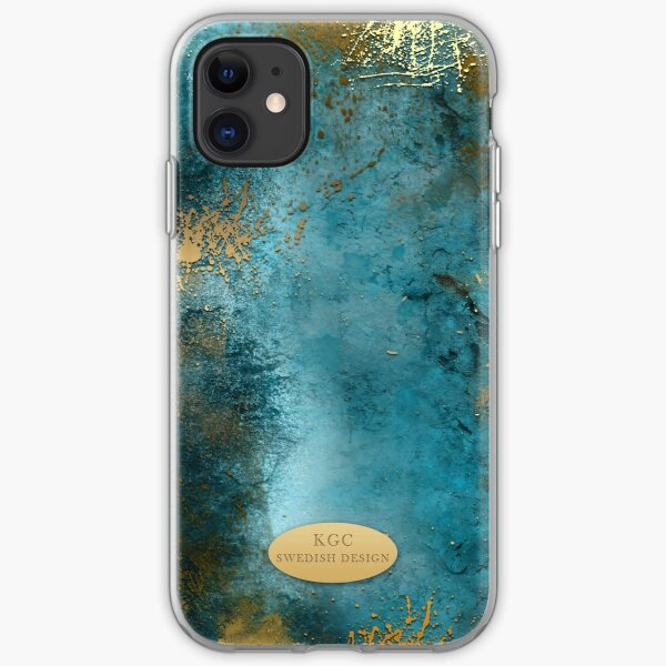 Mobile Skin Turcoisegold iPhone Soft Case