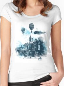 strange town Women's Fitted Scoop T-Shirt