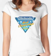 Nintendo World Championships 2015 Logo Women's Fitted Scoop T-Shirt