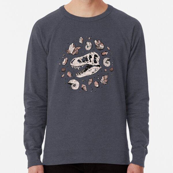 Geo-rex Vortex | Rose Quartz | Dinosaur Skull Fossil Art Lightweight Sweatshirt