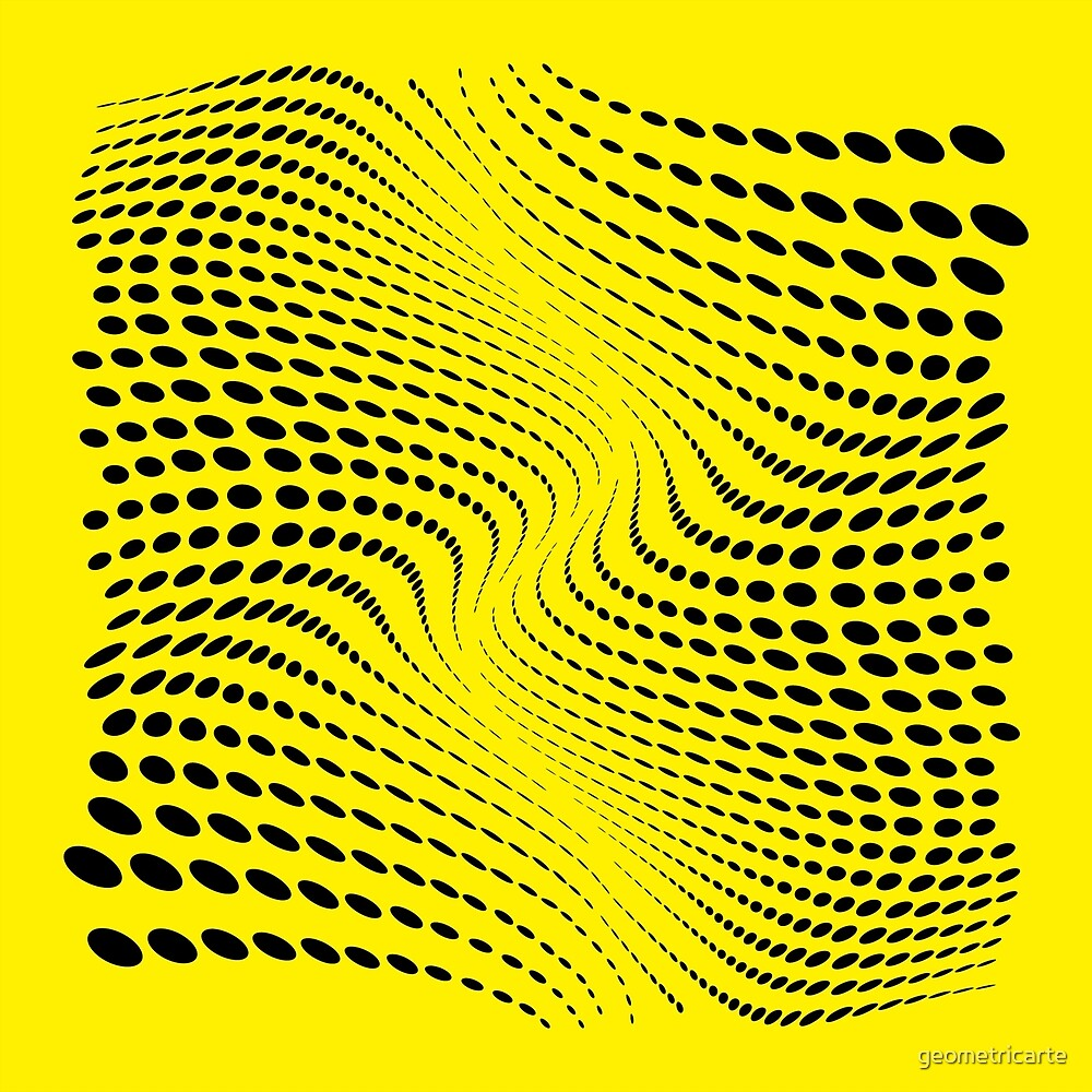 «THE RIVER (YELLOW)» de geometricarte
