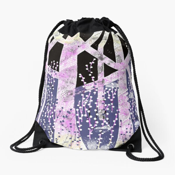 Winter Forest Drawstring Bag
