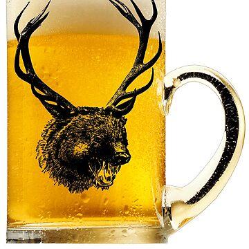 Beer Bear and deer shirt Beer Bear Deer t-shirt by bledi