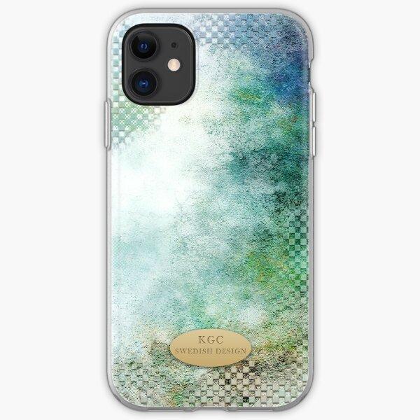 Mobile phone skins bluegreenwhite iPhone Soft Case