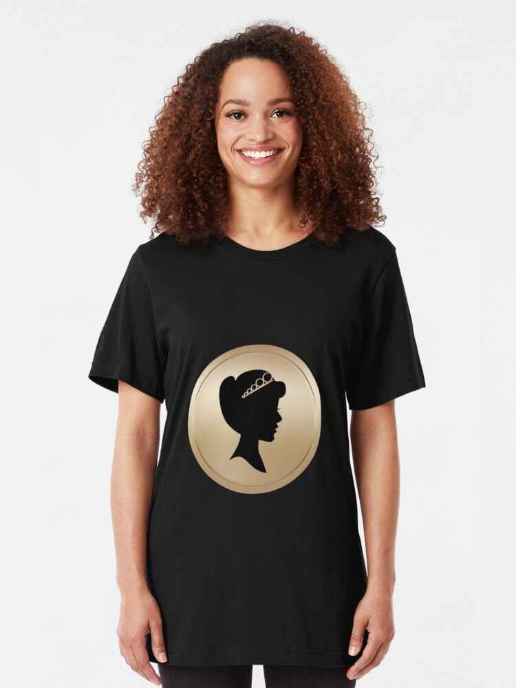 Alternate view of The Gold Queen Slim Fit T-Shirt