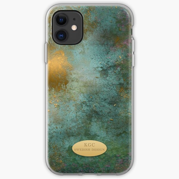 Mobile skin greenish gold iPhone Soft Case