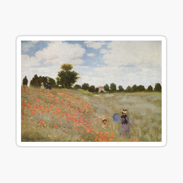 Coquelicots, La promenade (Poppies), 1873 by Claude Monet Sticker