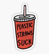 Plastic Straws Suck Sticker