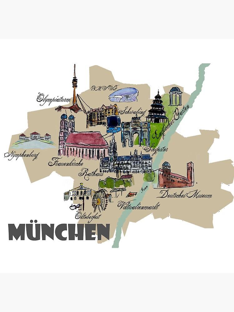 Munchen Karte Ubersicht Mit Den Highlights Frauenkirche