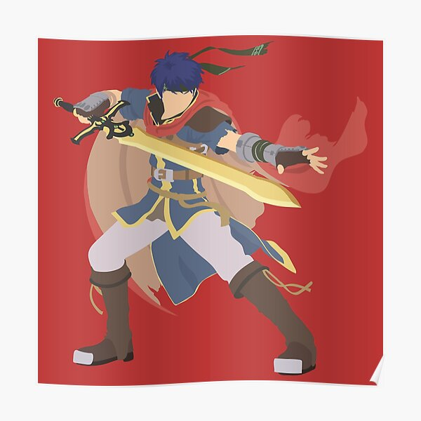 Ultimate Ike Blocky Poster