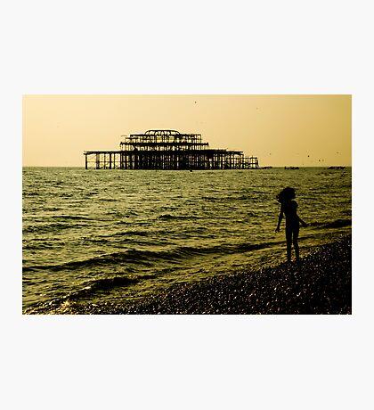 Brighton Pier Ruins Photographic Print
