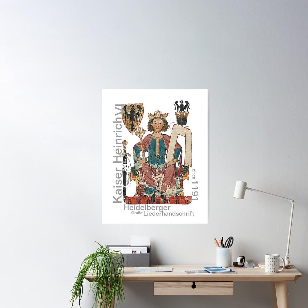 Kaiser Heinrich, Medieval German Roman Empire Poster