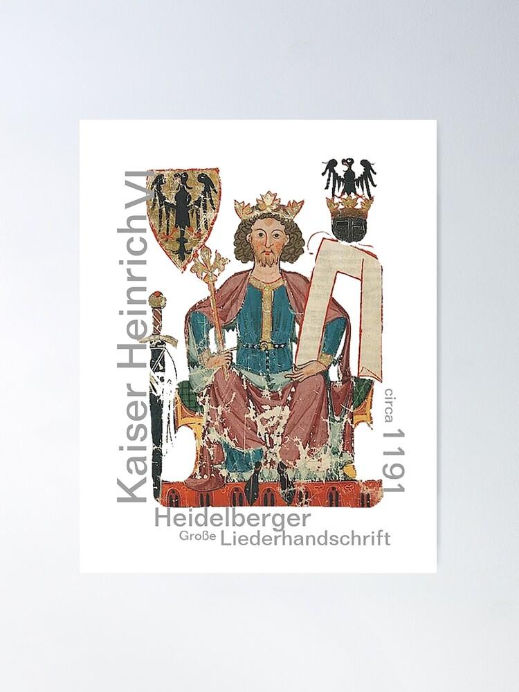 Alternate view of Kaiser Heinrich, Medieval German Roman Empire Poster