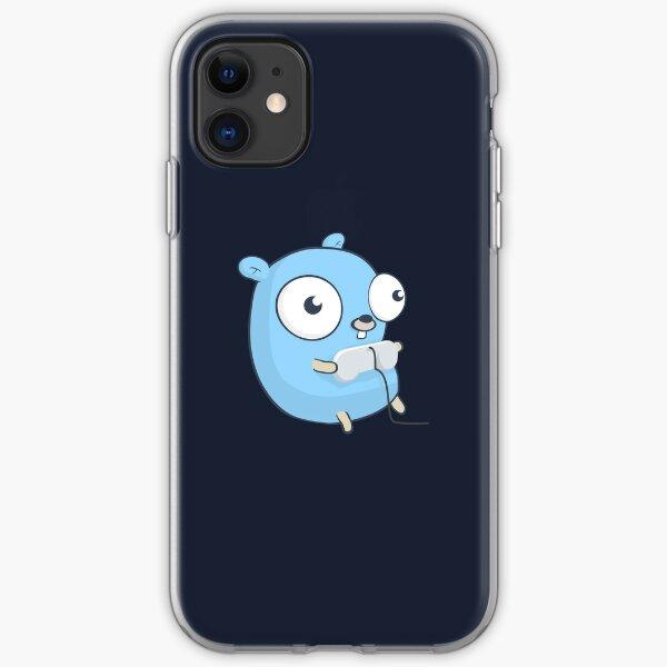 La mascota Golang Gopher: Juegos Funda blanda para iPhone