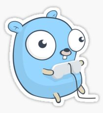 The Golang Gopher Mascot: Gaming Sticker