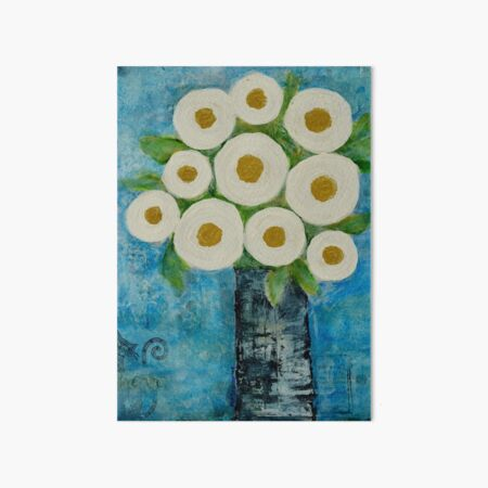The Flowers Look Happy Art Board Print