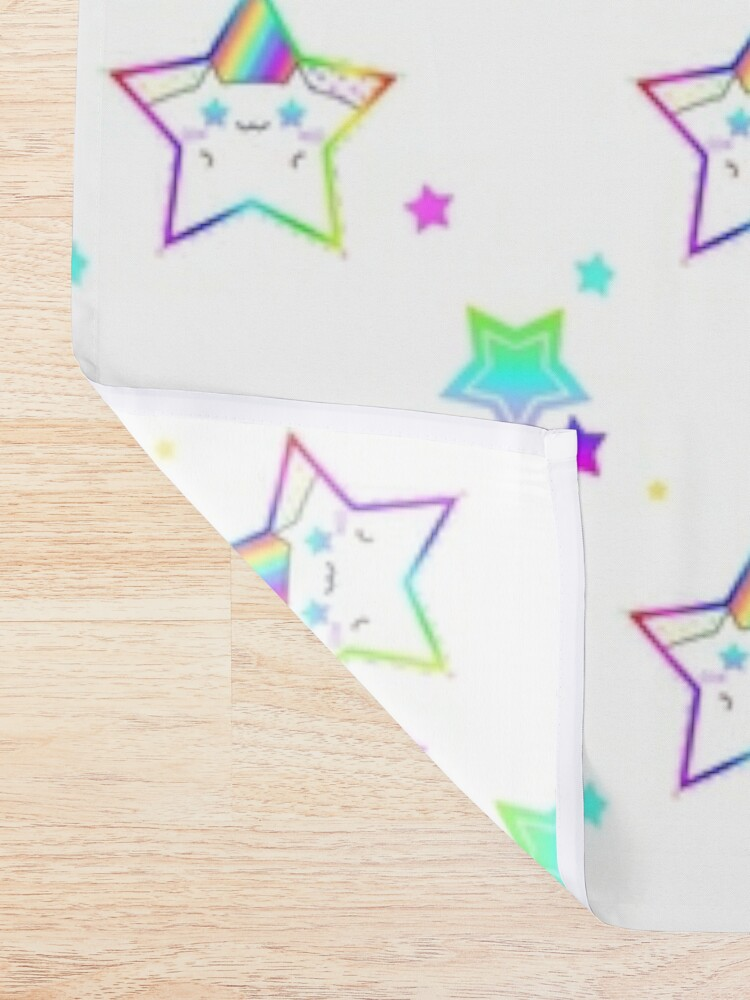 Alternate view of Rainbow Starry Kitty Shower Curtain