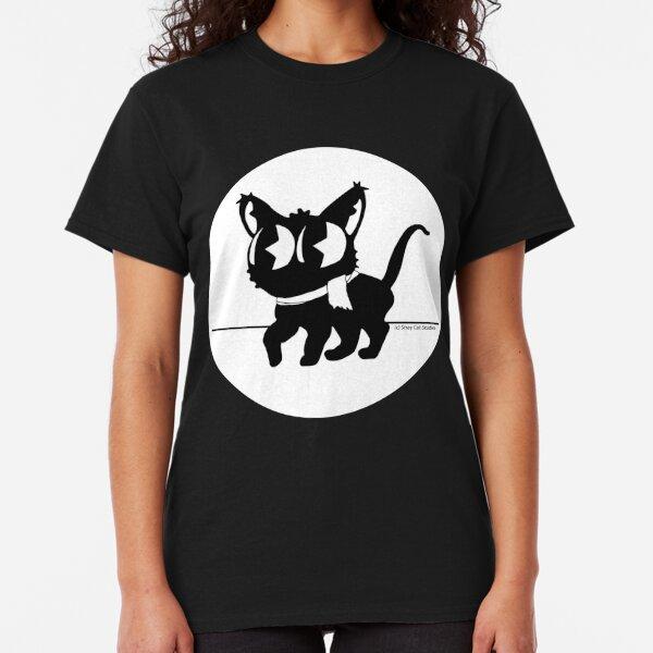 Walking Cat Mascot Round - Stray Cat Studios Classic T-Shirt