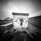 Crying eye graffiti - pinhole photography by willgudgeon