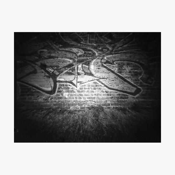 Graffiti wall - Pinhole photography  Photographic Print