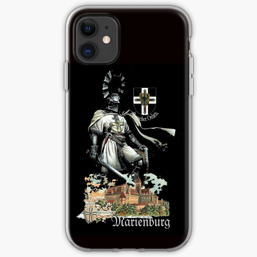 Teutonic Knight with coat of arms and Marienburg Castle  iPhone Case & Cover