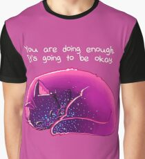 """Du machst genug"" Cat Grafik T-Shirt"