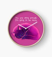 """Reloj Gato """"estás haciendo lo suficiente"""""""