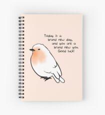 """New Day"" Bird Spiral Notebook"