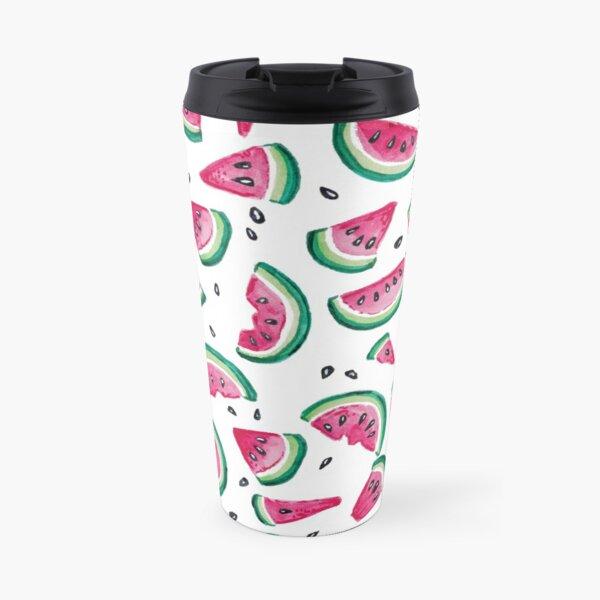 Summery Watermelon Slices Pattern Travel Mug