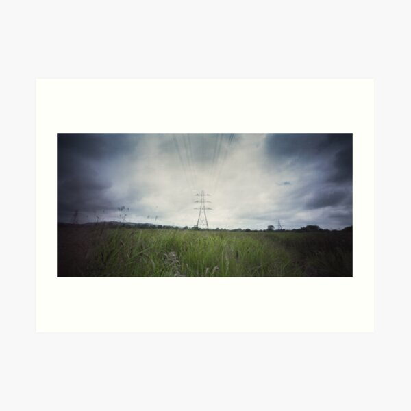 Electrical pylon - Pinhole photography Art Print