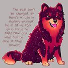 """""""The Past Can't Be Changed"""" Galaxy Pup by thelatestkate"""