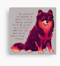 """""""The Past Can't Be Changed"""" Galaxy Pup Canvas Print"""