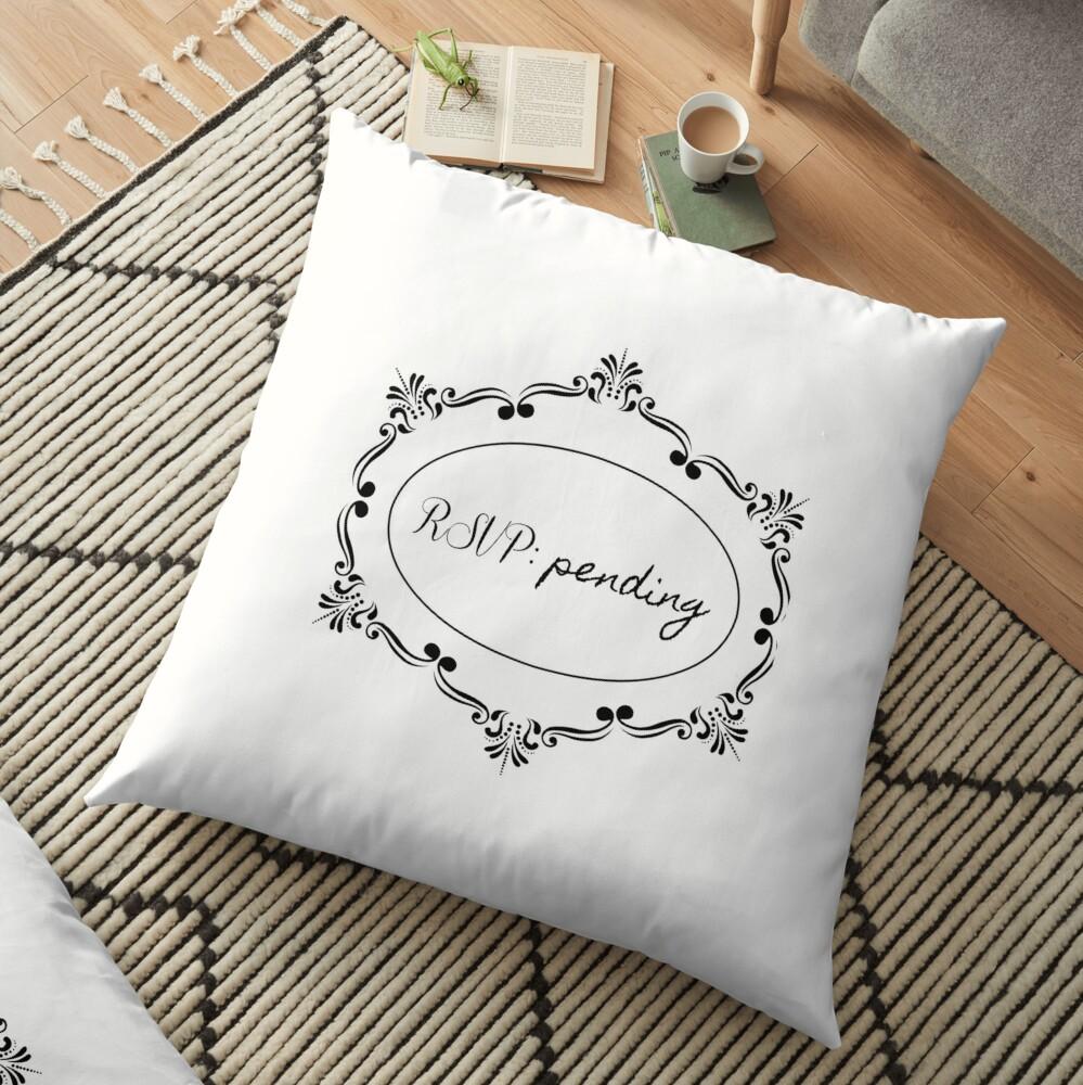 RSVP: pending Floor Pillow