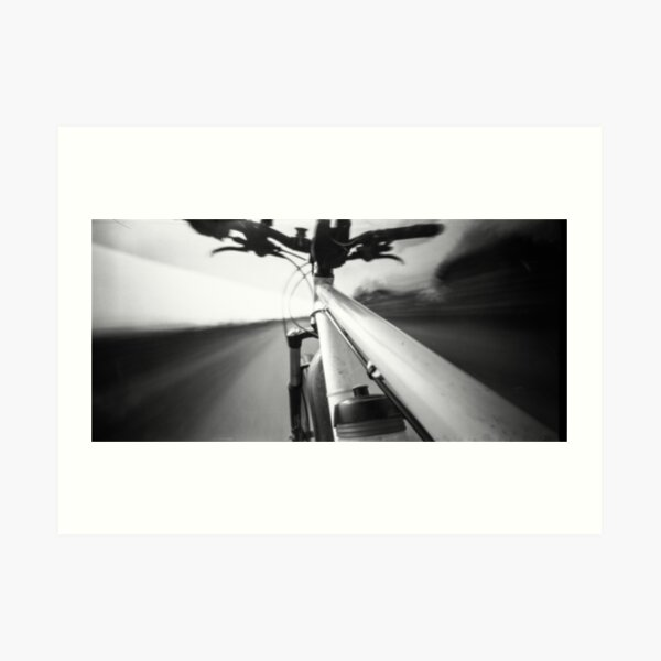 Bike ride -Pinhole photography Art Print
