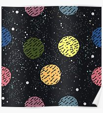 Cute Ball Background Poster