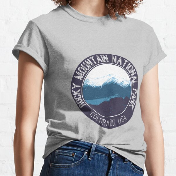 Rocky Mountain National Park Badge Classic T-Shirt