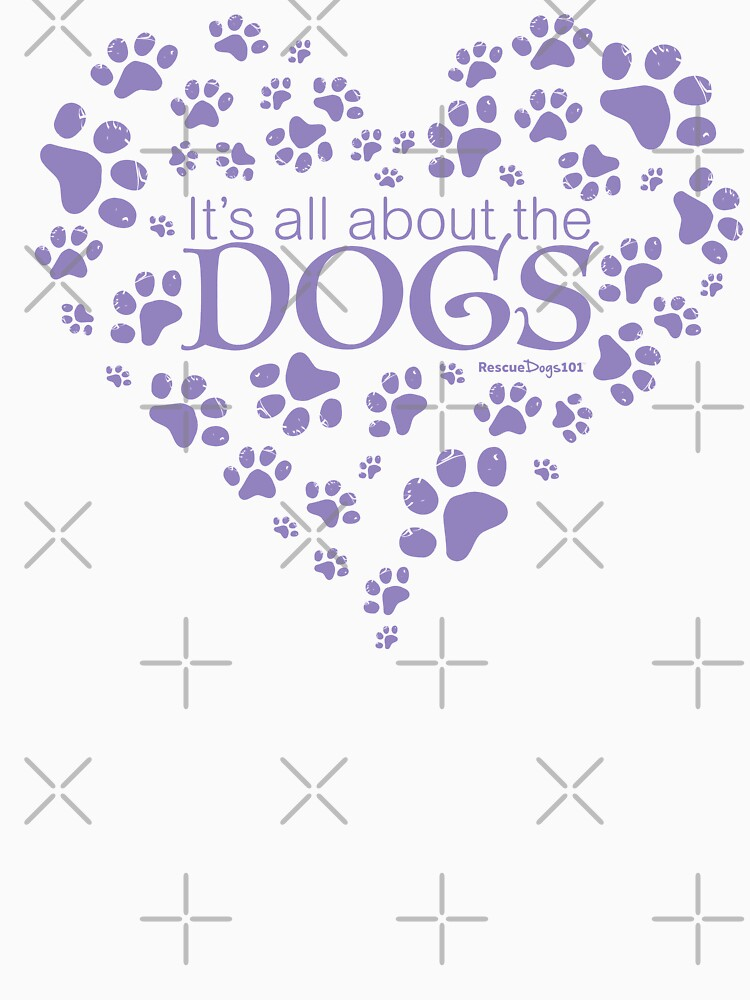 It's All About the Dogs Paw Print Heart by rescuedogs101