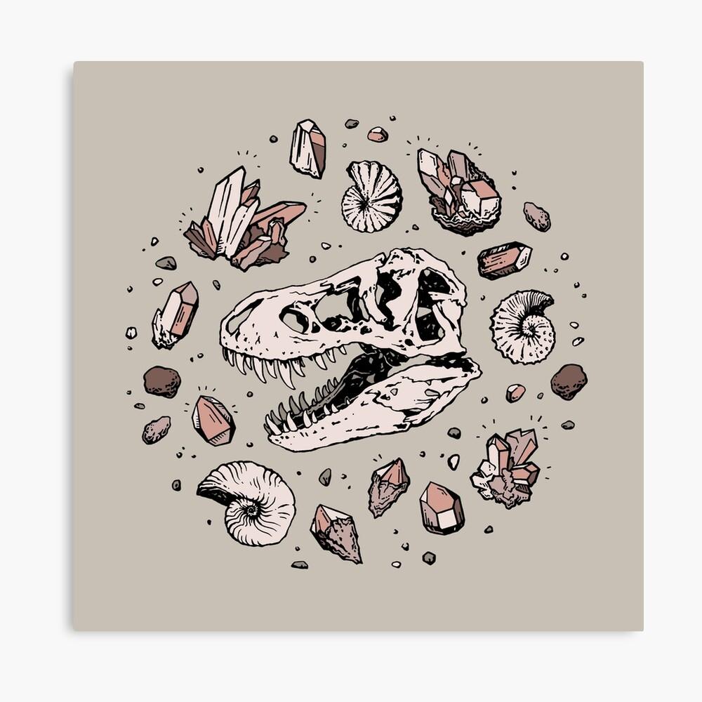 Geo-rex Vortex   Rose Quartz Canvas Print