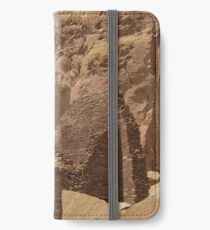 Historic Ruins, Rock Formation, Chaco Canyon, New Mexico iPhone Wallet/Case/Skin