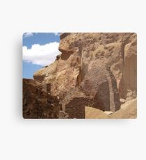 Historic Ruins, Rock Formation, Chaco Canyon, New Mexico Metal Print